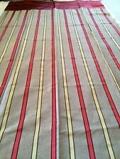 Laura Ashley Design Service cranberry stripe Curtains with cranberry top 125cm w