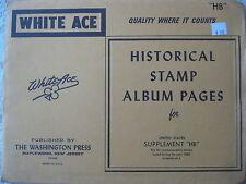 "1980 WHITE ACE STAMP ALBUM SUPPLEMENT "" HB "" USA COMMEMORATIVE BLOCKS OF 4"