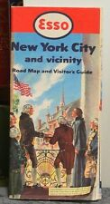 1952 Esso Road Map and Visitor's Guide of New York City and Vicinity