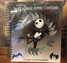 NEW~TIM BURTON'S NIGHTMARE BEFORE CHRISTMAS JACK 26 PAGE COLORING BOOK NBX RARE