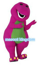 Best Barney Dinosaur Mascot Costume Cartoon Party Dress Adult Free Ship BN001