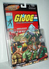 "G.I. Joe 25th Comic 3 Fig. Pack w/ CLASSIFIED SNAKE EYES Unmasked MIMP 3.75"" #26"