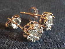 1/2 CT Champagne Diamond Earrings, 10KT Yellow Gold