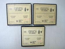 3  Sortimentskästen  Tampons für Taschenuhren + Armbanduhren (c132)
