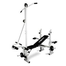 MULTI GYM WEIGHT BENCH LAT PULL DOWN ARM CURL LEG CURL *FREE P&P SPECIAL OFFER