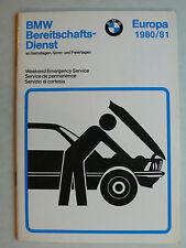 BMW Heft Bereitschaftsdienst an Samstagen, Sonn- und Feiertagen Europa 1980/81
