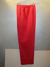 Coldwater Greek~Red Linen Blend  Pants Size L 32 X 30 Lined