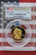 PCGS PR69DCAM 2011 LUCY HAYES FIRST STRIKE GOLD SPOUSE PR 69  S