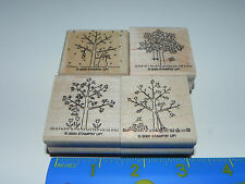 Stampin Up A Tree for All Seasons Stamp Set 4 Winter Snowman Summer Spring Fall