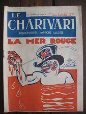 Journal 1935 N°485 Charivari Hebdomadaire satirique illustré soupault
