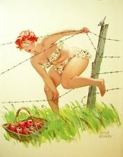 Hilda barbed wire fence, basket od apples by Duane Bryers