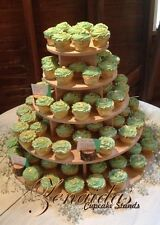 5 TIER CUPCAKE STAND ROUND WOOD DIY PROJECT CUPCAKE TOWER BIRTHDAY STAND WEDDING