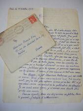 LAS Tristan Lamoureux pseudo Jacques Mareuse à Françis Eon 11 octobre 1934