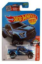 2016 Hot Wheels #150 HW Hot Trucks '17 Ford F-150 Raptor blue