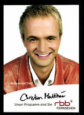 Christian Matthee RBB Autogrammkarte Original Signiert # BC 40672