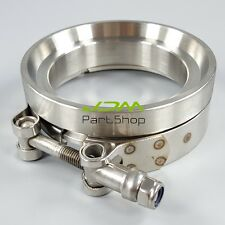 """GT45 TURBOCHARGER 3.25"""" TURBO/TURBOCHARGER/DOWNPIPE EXHAUST V-BAND CLAMPS+FLANGE"""