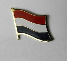 HOLLAND NETHERLANDS COUNTRY WORLD SINGLE FLAG LAPEL PIN BADGE 1 INCH