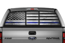 Ford F150 Raptor F-150 Blue Lives Matter Rear Window Sticker Police Decal 09-13