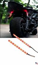 2x Universal RED 9 LED Motorcycle Brake Light Strip for Harley Dyna Street