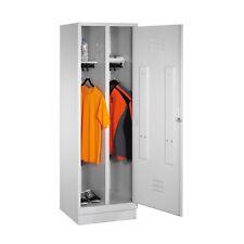 Kleiderspind für 1 Person 2 Abteile hinter 1 Tür Abteilbreite 300mm Sockel