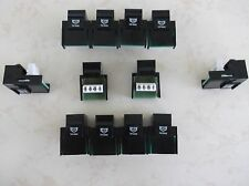 100 Pack Cat-3 Keystone Jacks in Black Telephone  RJ-11 Cat3 Phone Jacks