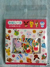 POKEMON Center LTD Japanese Style Series Kokeshi Washi Sticker PIKACHU EEVEE MEW