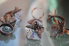 5 Bases de anillo de metal ajustable, anneau, ring