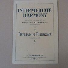 LIBRI Harmony intermedio incl scrittura Pianoforte accompagnamenti, Benjamin Burrows