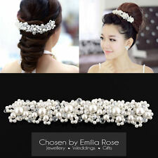 Bridesmaid Wedding Bridal Prom Pearl Crystal Flower Tiara Hair Band Headband