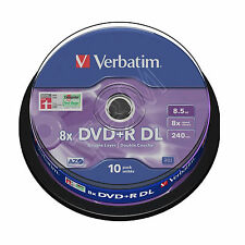 Verbatim DVD+R De Doble Capa 8.5 Gb 10 Husillo 43666 de doble capa non Imprimible