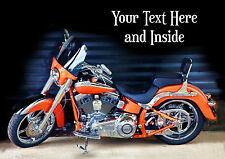 Personalizado De Harley Davidson Motor ciclo bici Tarjeta De Cumpleaños Cualquier Ocasión