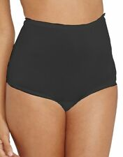 Vanity Fair Perfectly Yours 100% Nylon Full-Cut Black Brief Size 7/Large