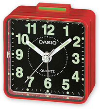 Casio TQ140-4D Travel Desk Quartz Alarm Clock Neobrite Resin Case w Battery New