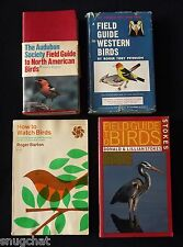 1 Lot of 4 Bird Watching Books Peterson Udvardy Barton Stokes Multiple Images
