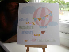 Handmade Personalised Vintage Balloon Leaving Work New Job Good Luck Card