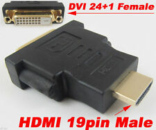 1pc HDMI Male to DVI-D Female 24+1 Pin DVI M/F Gold Plated Converter Adapter