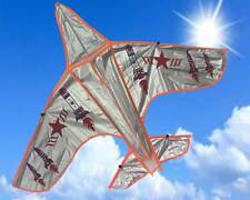 LARGE army airplane - kite for boys + single line- great family fun -easy to fly