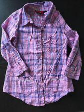 *** Lovely MEXX BABY girl plaid SHIRT - used size 3  ***