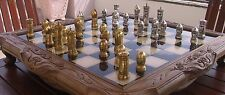 Tigrani Faces Version #1 Sterling Silver Chess set