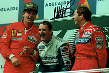 Martin BRUNDLE 12x8 SIGNED Photo Australian GP F1 Genuine Autograph AFTAL COA