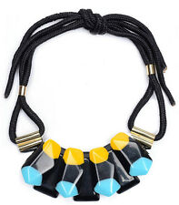 MARNI H&M  Blue Big Gemstone  Necklace