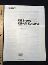 Sony Str-D665 Stereo Receiver Original Owners Manual 18 Pages strd565 A16