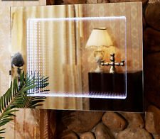 """LED Mirror Integrated Backlit Infinity Modern Bathroom 24"""" X 32"""" touch on off"""