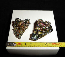 DINO: 2 Magnificent RAINBOW BISMUTH Crystal Specimens - 36 gr. England