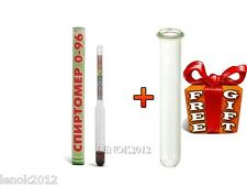 1 x HYDROMETER good for measuring content of alcohol in liquid alcoholmeter
