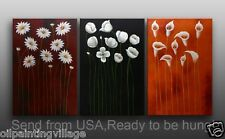 Modern Abstract Oil Painting Contemporary Wall Art Abstract Flowers on canvas