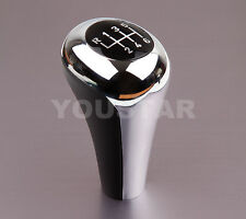 BMW MANUAL BLACK & CHROME 6 SPEED GEAR KNOB SHIFT ALL E46 E90 E91 E92 E93 E60 Z4
