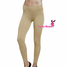 New Solid Full Length Seamless Stretch Footless Long Basic Tight Leggings Pants