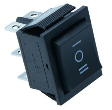 On/Off/On Large Black Rectangle Rocker Switch Car Dash 6-Pin DPDT 12V
