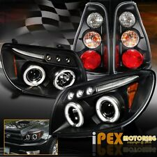 2003 2004 2005 Toyota 4Runner Halo Projector LED Black Headlights W/ Tail Lights